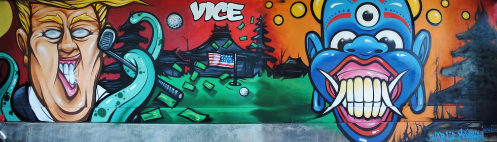 Anti Trump Mural.