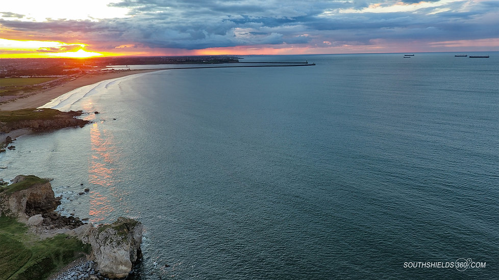 Trow Point and Sandhaven Beach Sunset