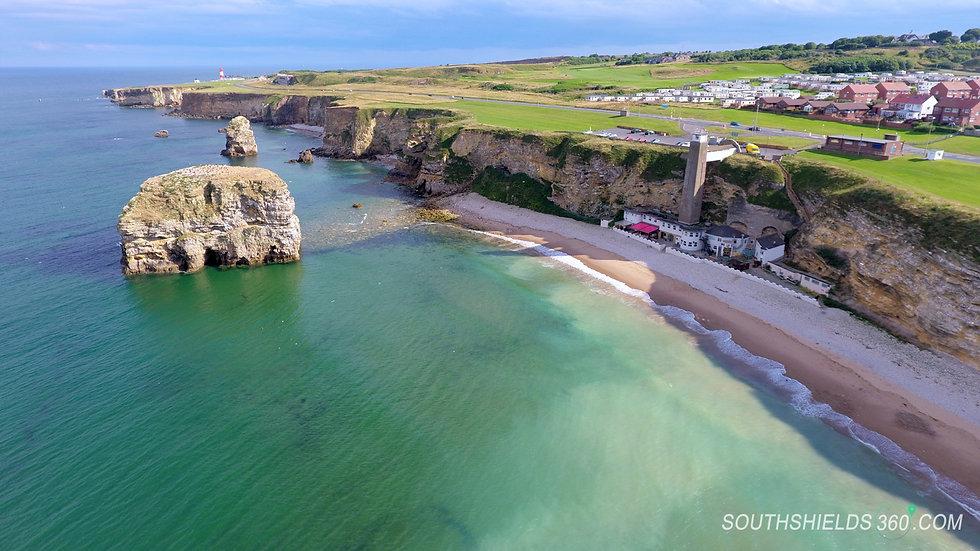 Marsden Rock & North Sea South Shields