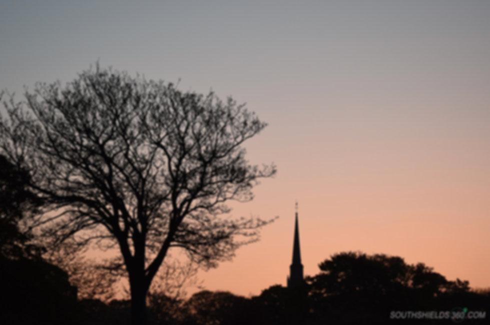 Harton Cemetery Sunset