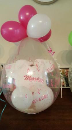 ballon+romper met  tekst €27,5
