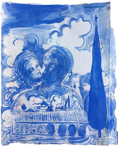 Barış Sarıbaş, Kağıt Üzeri Guaj, 32x24cm, 2020