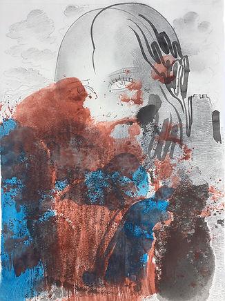 Barış Sarıbaş, Aşk&Kale, Kağıt Üzeri Mürekkep, Akrilik, Kalem, 28x21cm, 2020