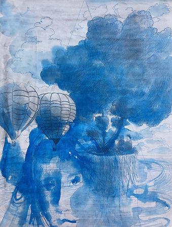 Barış Sarıbaş - Kart Üzeri Gesso ve Kalem, 40x31cm, 2020