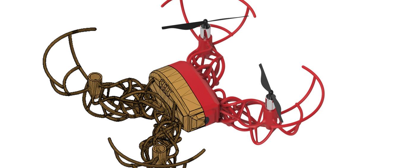 Bugdrone mitad wireframe