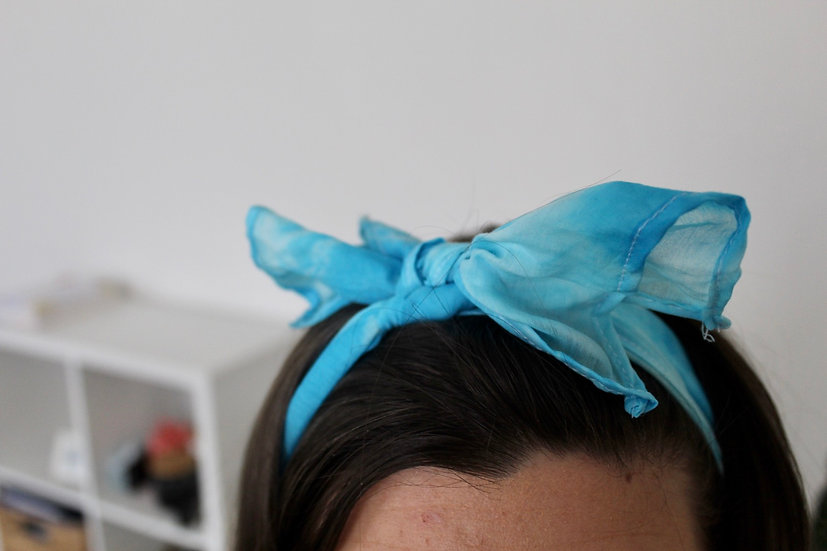 Foulards cheveux tie and dye
