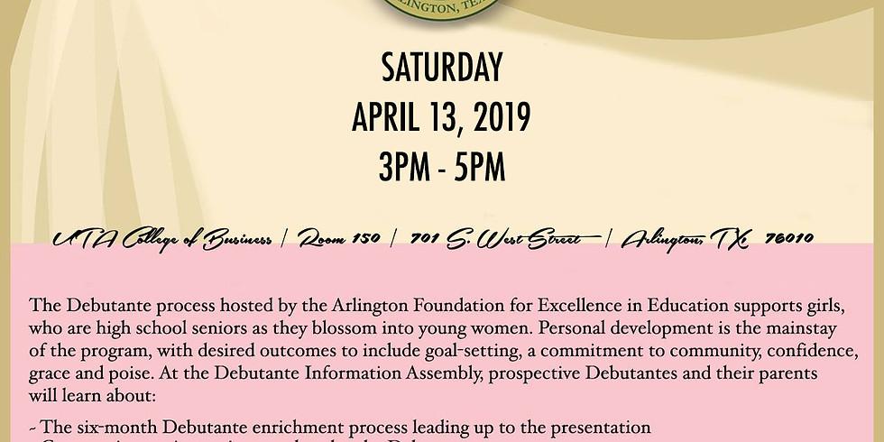 2019 Debutante Information Assembly