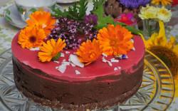 Raw Hallon/kakao tårta