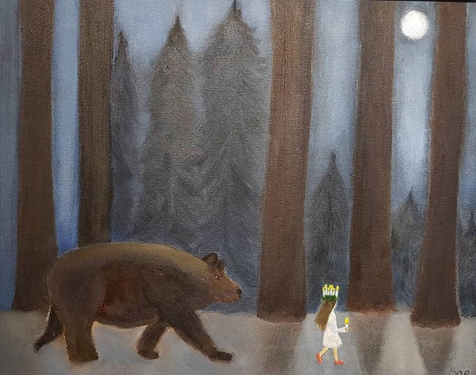 Lucia i skogen