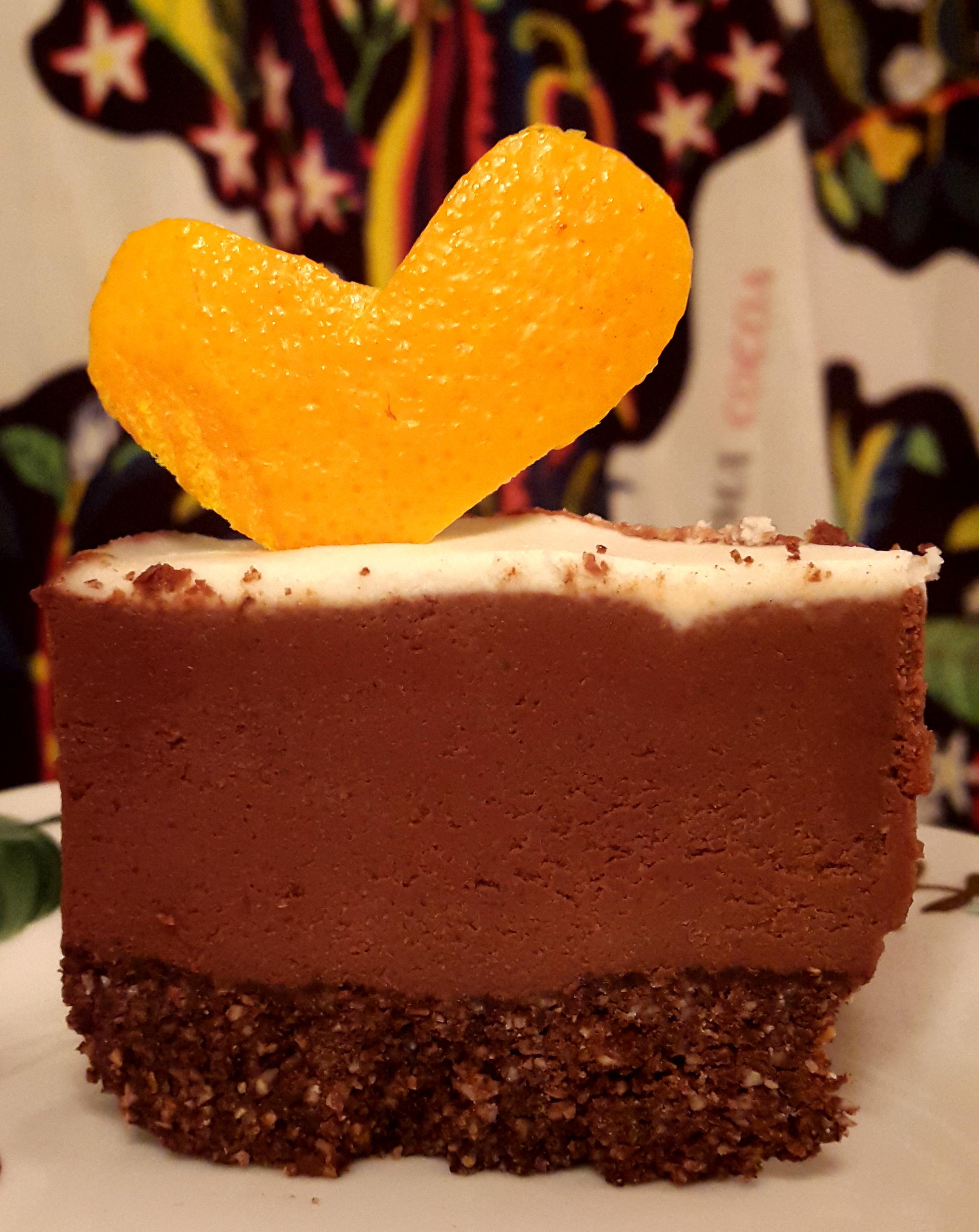 Raw Apelsin/Kakao tårta