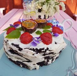 Chokladtårta med svarta bönor