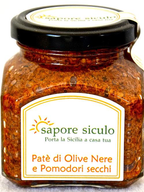 Pate' di Olive nere con pomodori secchi