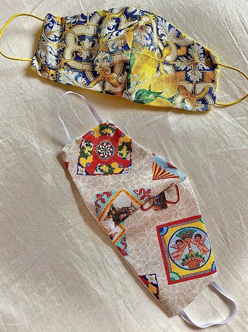 Mundmasken Sicily Style (2er Pack)
