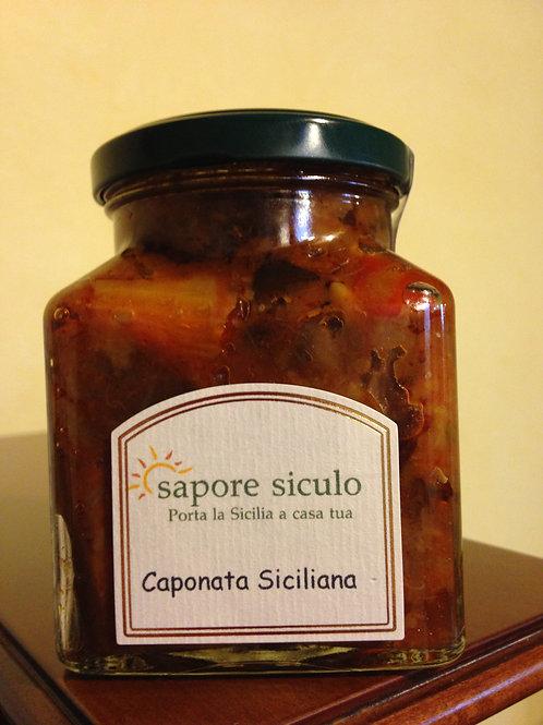 Caponata di Sicilia Rusticana mit Peperoni