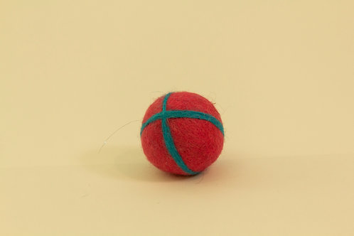 Cat Toy - Ball with little bell - pink/blue