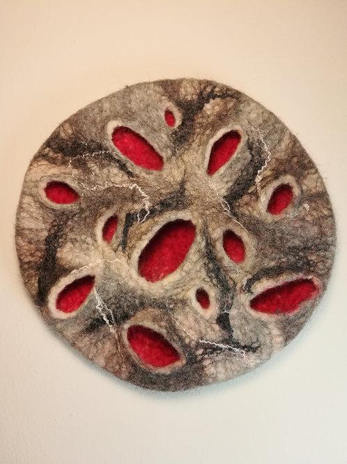 Sea inspired Trivet - Red