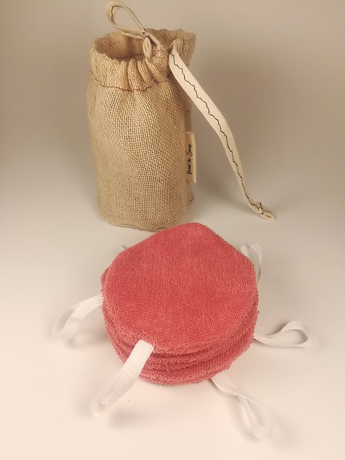 Reusable 100% Organic Cotton face pads