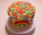 Regenboog taart