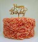 Roze Verjaardag taart