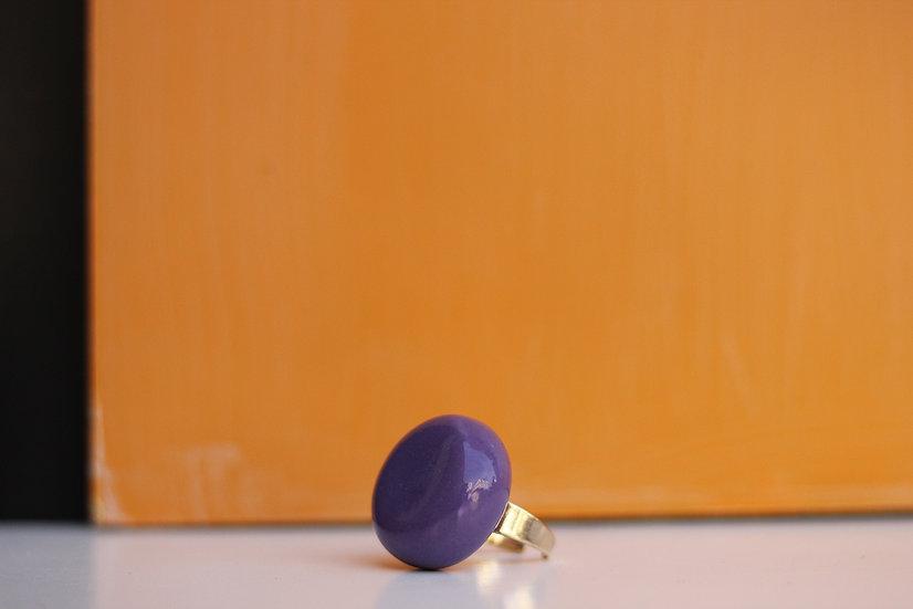Anello piatto viola