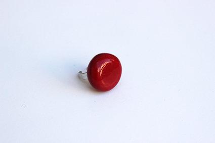 Anello piatto rosso