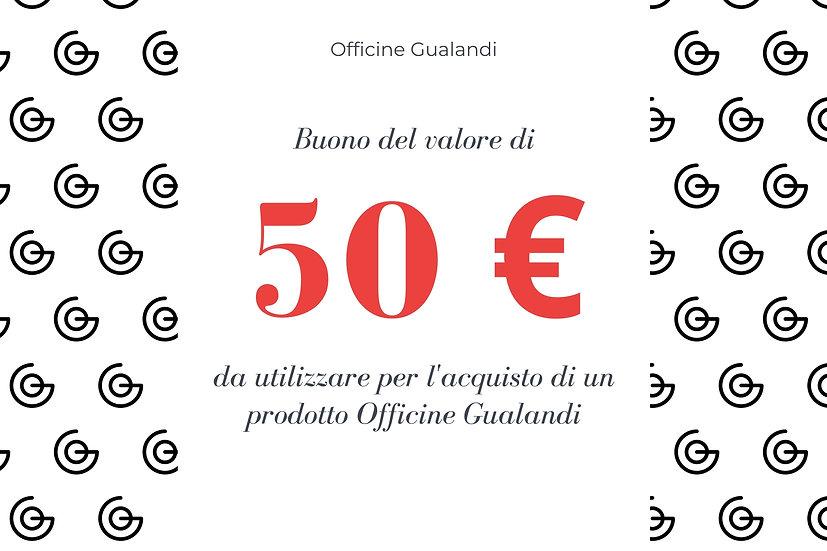 Buono regalo Gualandi da 50 euro