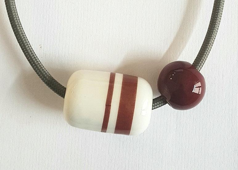Capsula Equatore, rubino e bianco, decalcomania, cavo nero.elettrico