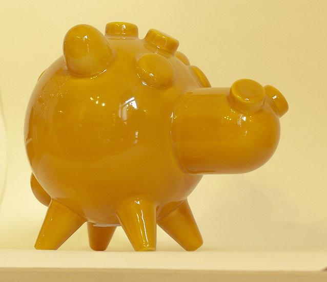 CARMELO SENAPE, Salvadanaio in ceramica, GIALLO SENAPE