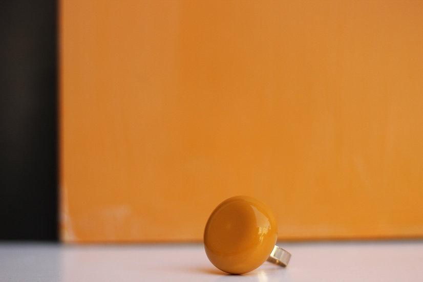 Anello piatto senape