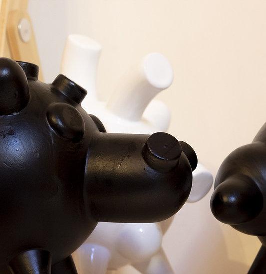 Copia di CARMELO NERO OPACO, Salvadanaio in ceramica, NERO OPACO