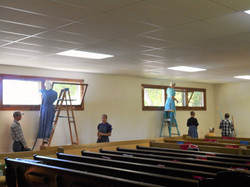 Youth cleaning church