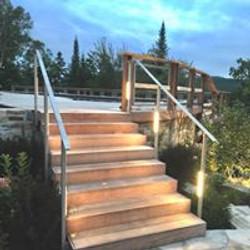 Escalier exterieur INOX + LED
