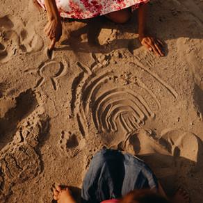 Szabadság, nyár, homokangyalok