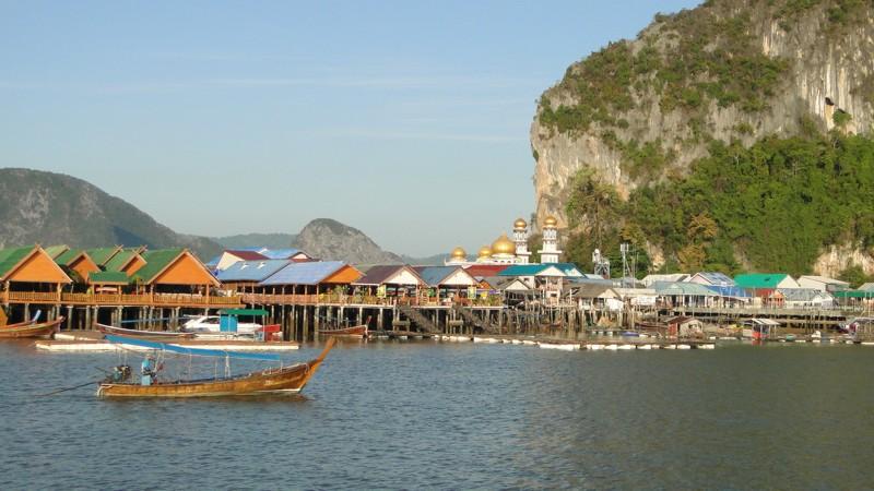 Phang Nga-öböl, muszlim halászfalu