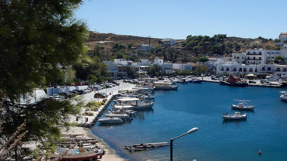 Skyros, a kikötő