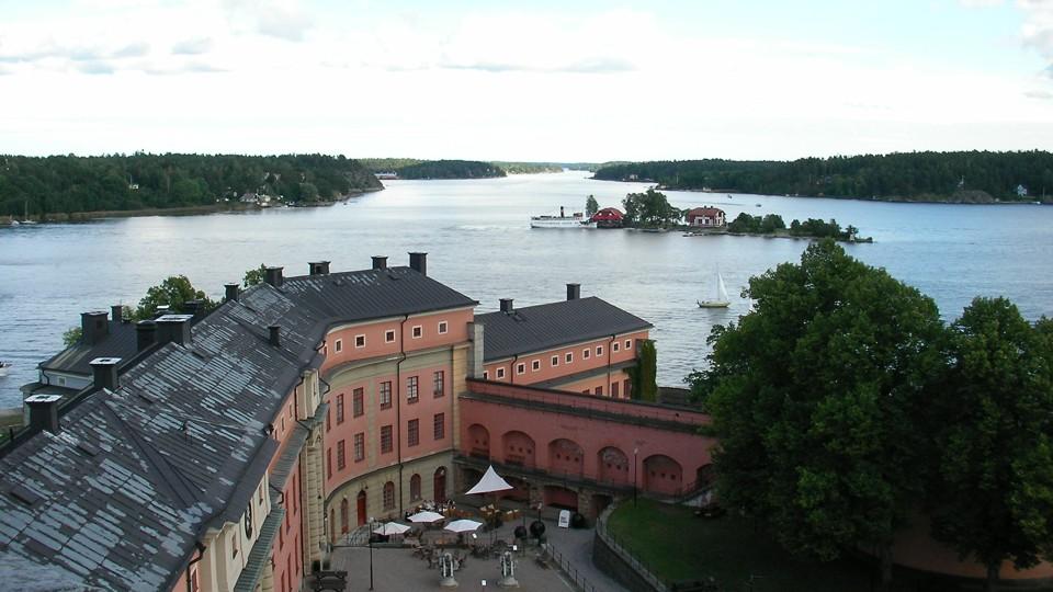Kilátás a waxholmi várból