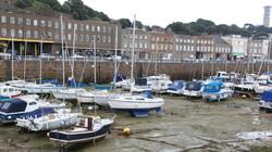 Jersey, a kishajós marina apálykor