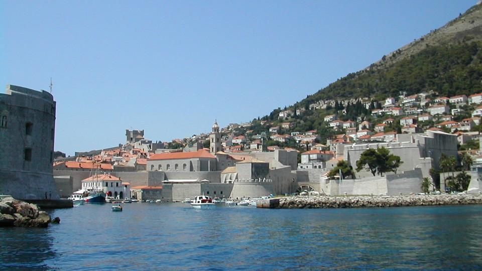 Dubrovnik, óvárosi kikötő