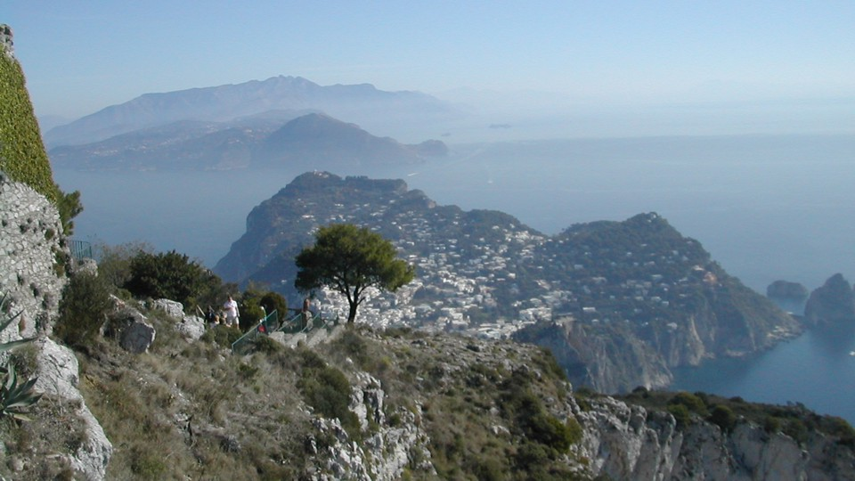 Capri, kilátás a csúcsról