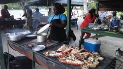 Tobago Cays, készül a vacsora