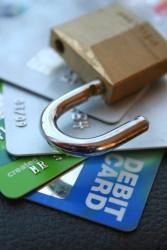 Lock wiht credit cards