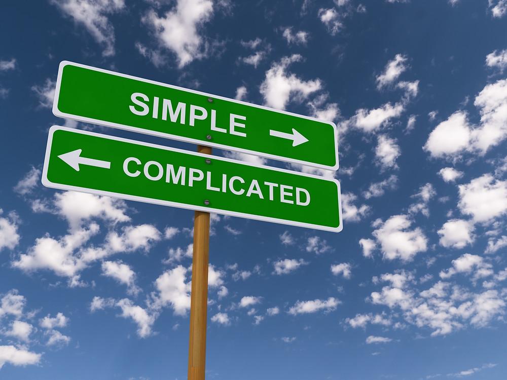 Simple versus complicates