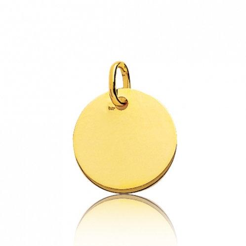 Médaille ronde 15mm en or jaune