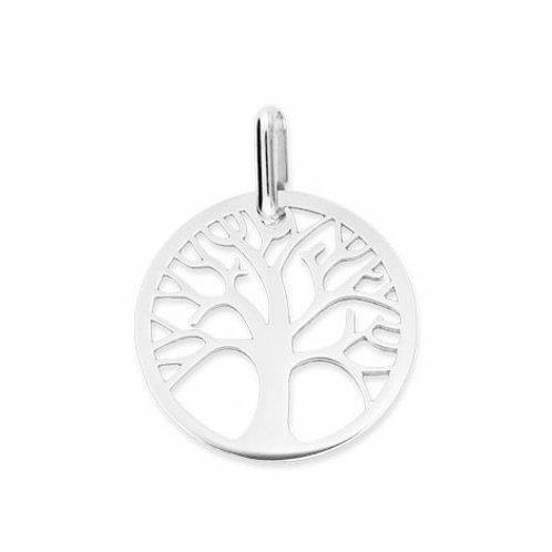 Pendentif arbre de vie en or blanc