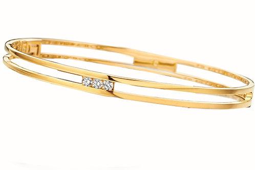 Bracelet jonc or jaune et diamants Beheyt