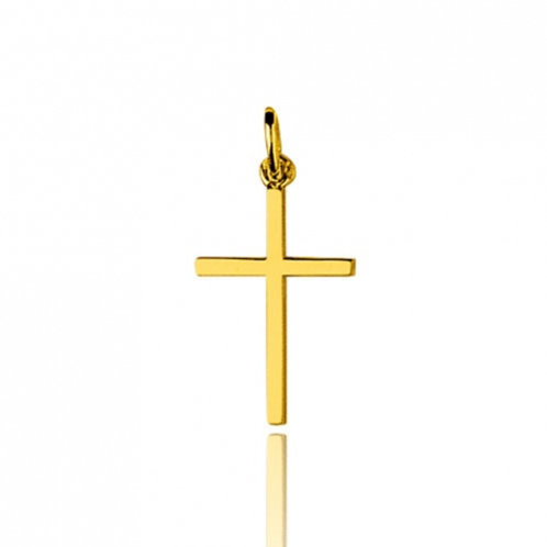 Croix classique en or jaune