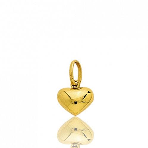 Pendentif mini coeur bombé en or jaune
