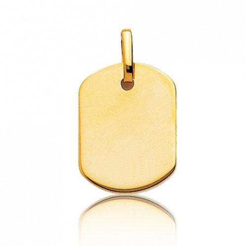 Pendentif tonneau en or jaune
