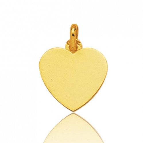 Pendentif coeur en or jaune