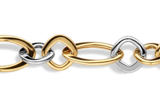 Bracelet bicolore or jaune/or blanc SCAL